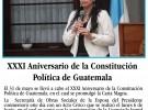XXXI Aniversario de la Constitución Política de Guatemala