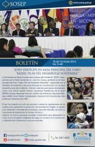 B-40 SOSEP participa foro mujer