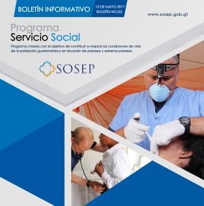 Trasladamos Boletín Informativo No 03 de la Dirección de Comunicación Social de SOSEP