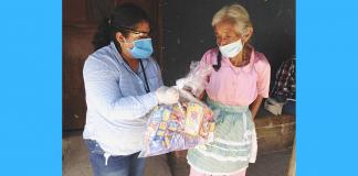 La dotación de alimentos se realizó a familias de Jutiapa.