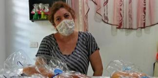 Aura Arriaza, beneficiaria del programa Mejoramiento de las Condiciones Socioeconómicas de la Mujer