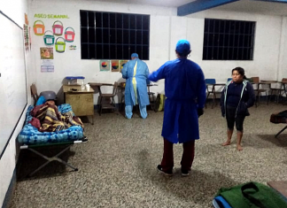 Al menos 8 familias fueron albergadas en El Palmar porque fueron afectadas por la lluvia de las últimas horas en Quetzaltenango.