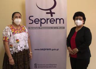 La Secretaria de la SOSEP, Thelma Portillo, sostuvo una reunión con la Subsecretaria de la SEPREM, Silvia Hernández.